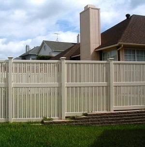 Vinyl Semi Privacy Fence Dallas Texas