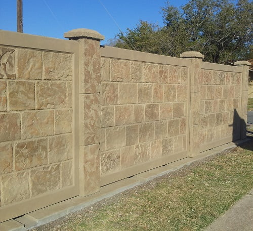 In House Financing Dallas Tx >> Precast Concrete Fence in Dallas